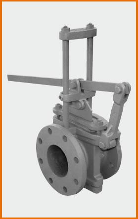 71型急開レバー式板弁 ロング型 底フタ付 S−112