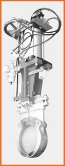 ナイフゲートバルブ エアーシリンダー操作 手動兼用 付属品付 S−122016