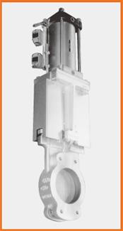 ナイフゲートバルブ エアーシリンダー操作 SS製カバー、リミットスイッチ付 S−122018