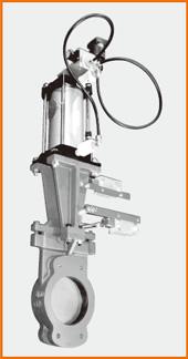ナイフゲートバルブ エアーシリンダー操作 オール附属品付、防爆仕様 S−122055