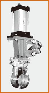 ナイフゲートバルブ エアーシリンダー操作 リミットスイッチ付 S−12208