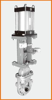 カバー付ナイフゲートバルブ エアーシリンダー操作 S−8001