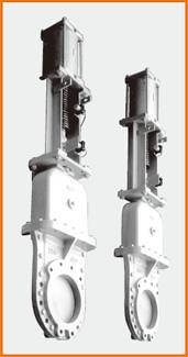 カバー付ナイフゲートバルブ エアーシリンダー操作 2重グランド構造 ジャバラ付 S−8006