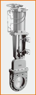 カバー付ナイフゲートバルブ 手動兼エアーシリンダー操作 オール附属品付 S−8008
