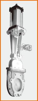 カバー付ナイフゲートバルブ エアーシリンダー操作 リミットスイッチ付 S−8009