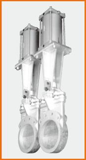 ナイフゲートバルブ エアーシリンダー操作 閉リミットスイッチ付 S−12206