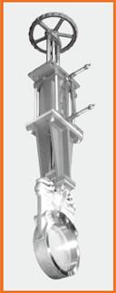 ナイフゲートバルブ エアーシリンダー操作 手動兼用 S−122015