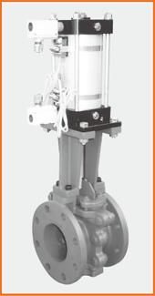 ロング型板弁 エアーシリンダー操作 スピコン・リードスイッチ付 S−1061