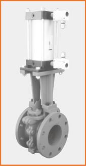 ロング型板弁 エアーシリンダー操作 スピコン付 S−1062