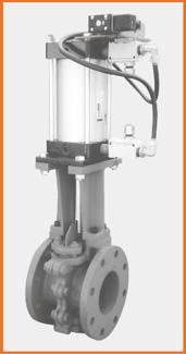 ロング型板弁 エアーシリンダー操作 電磁弁、スピコン付 S−1063