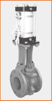 ロング型板弁 エアーシリンダー操作 リードスイッチ付 S−1065