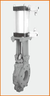 ショート型板弁 エアーシリンダー操作 スピコン付 S−1071