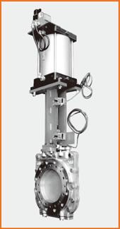 ショート型板弁 エアーシリンダー操作 電磁弁、リミットスイッチ付 S−1072