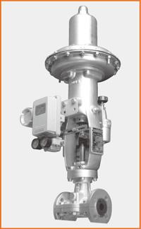 ダイヤフラムモーター操作ピンチバルブ ポジショナー付 S−1500