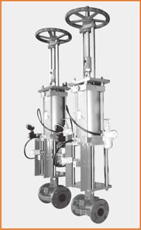 手動兼単動シリンダー操作 電磁弁エアセットリミットスイッチ付 S−1501