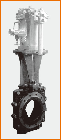 Vポート板弁 エアーシリンダー操作 ポジショナー付 S−1022