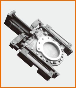 W油圧シリンダー操作 ナイフゲートバルブ S−12209 シールド仕様
