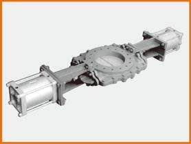 Wエアーシリンダー操作 ショートプレートバルブ S−12211 紙パルプ仕様