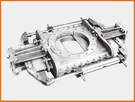 W油圧シリンダー操作 ナイフゲートバルブ S−12210 シールド仕様
